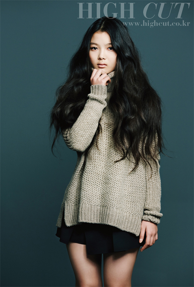 Child actress, Kim Yoo Jung (now 14), was in High Cut Magazine. #4 is ...
