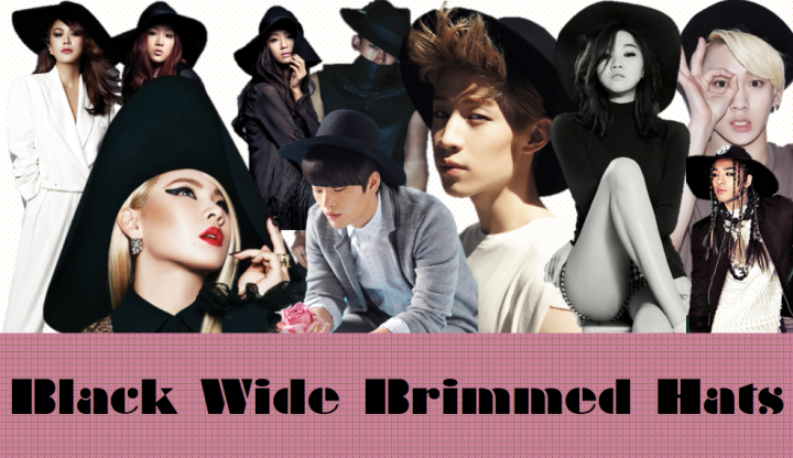 Black Wide Brimmed Hats