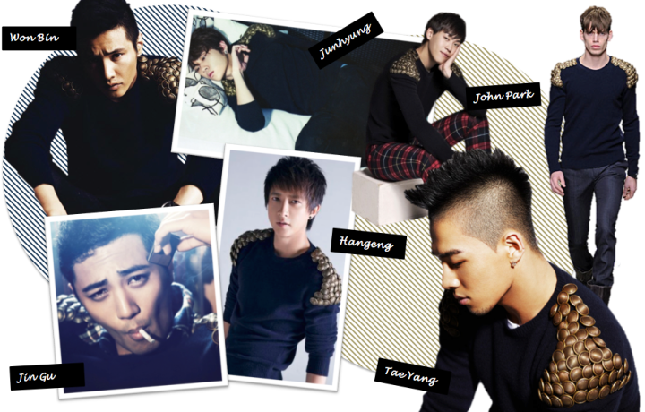 Who Wore It Better? (Won Bin vs. Tae Yang vs. Hangeng vs. Junhyung vs. John Park vs. Jin Gu) [Burberry Prorsum]