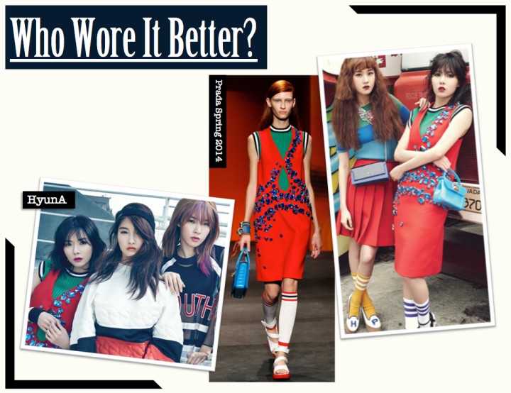 Who Wore It Better? [HyunA vs. HyunA] (Prada)