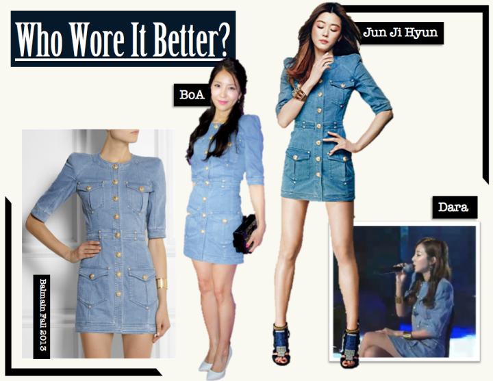 Who Wore It Better? [Jun Ji Hyun vs. Dara vs. BoA] (Balmain)