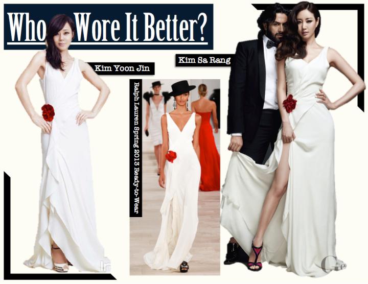 Who Wore It Better? [Kim Sa Rang vs. Kim Yoon Jin] (Ralph Lauren)