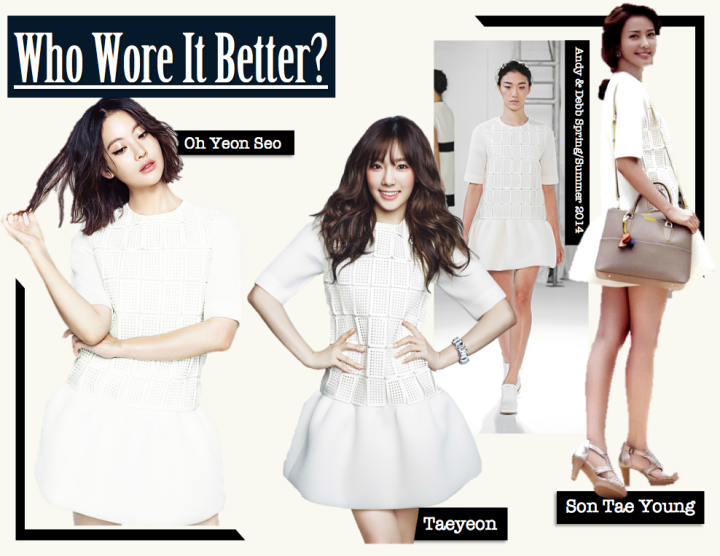 Who Wore It Better? (Son Tae Young vs. Oh Yeon Seo vs. Taeyeon) [Andy & Debb]