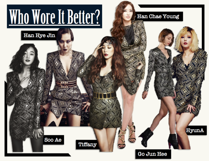 Who Wore It Better? [Soo Ae vs. Go Jun Hee vs. HyunA vs. Tiffany vs. Han Hye Jin vs. Han Cha Young] (Balmain)